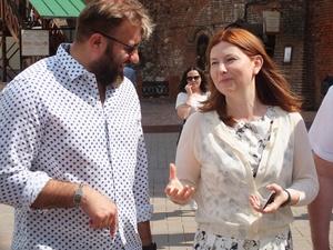 Солонченко провела экскурсию по Кремлю для актера Михаила Пореченкова (ФОТО, ВИДЕО)