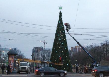 Площадь Горького украсила новогодняя елка