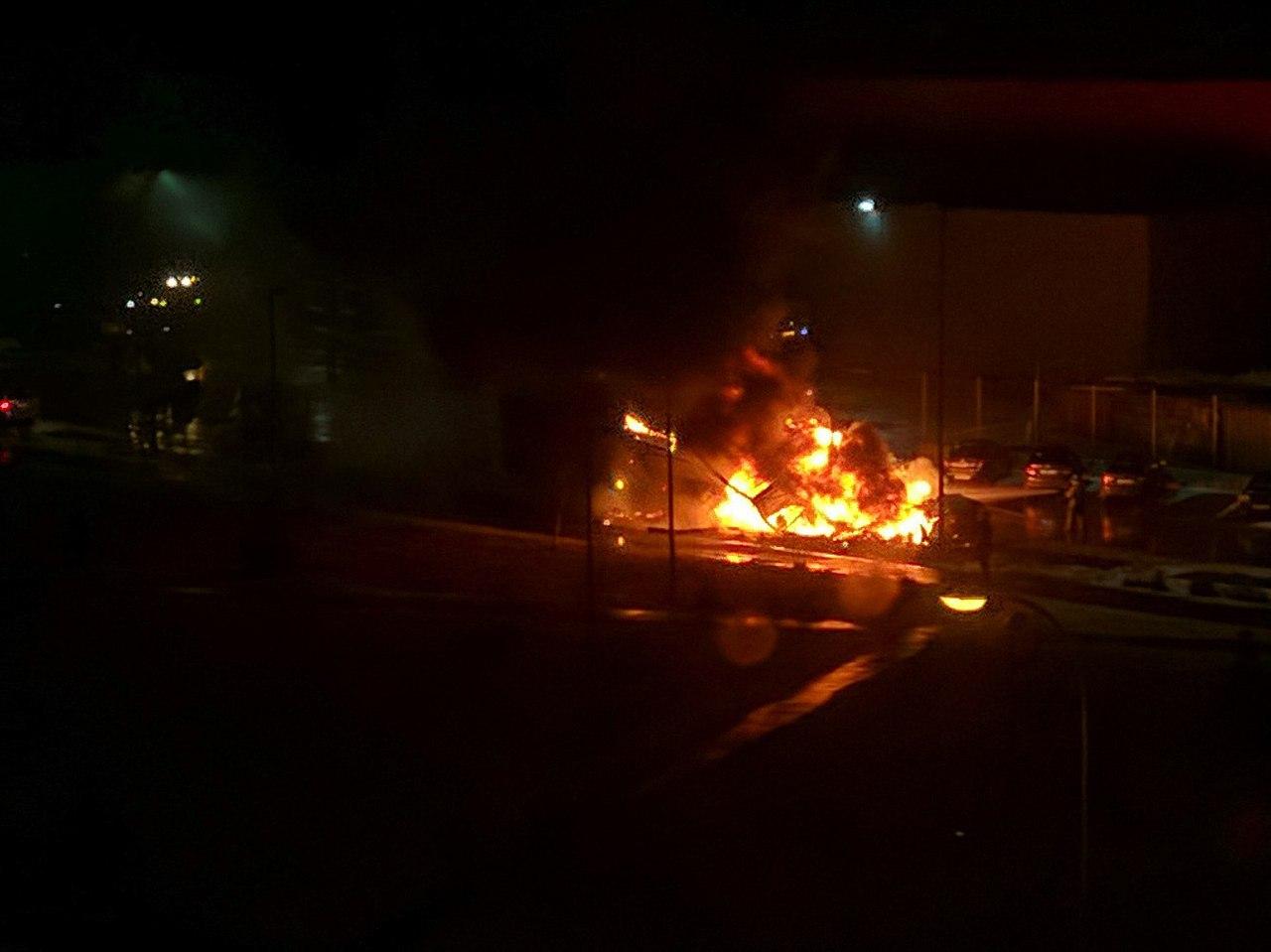 Большегруз навсе 100% сгорел вКанавинском районе