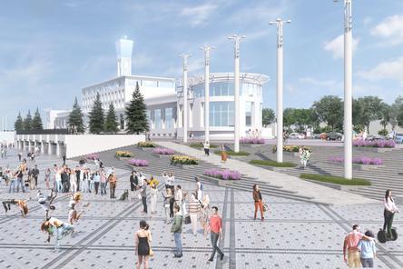 Работы по благоустройству Нижне-Волжской набережной идут в графике