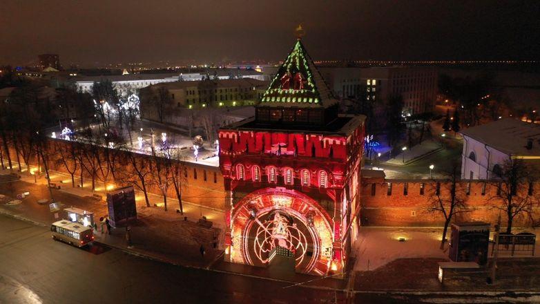 3D-инсталляция появилась на Дмитриевской башне Нижегородского кремля - фото 2