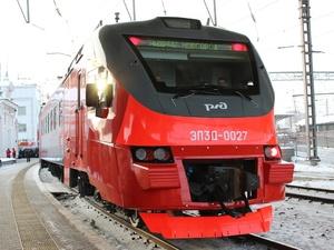 Электричка нового поколения отправилась в первый рейс с нижегородского вокзала