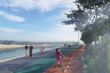 Памп-трек и мост «Петля» появятся на набережной Гребного канала