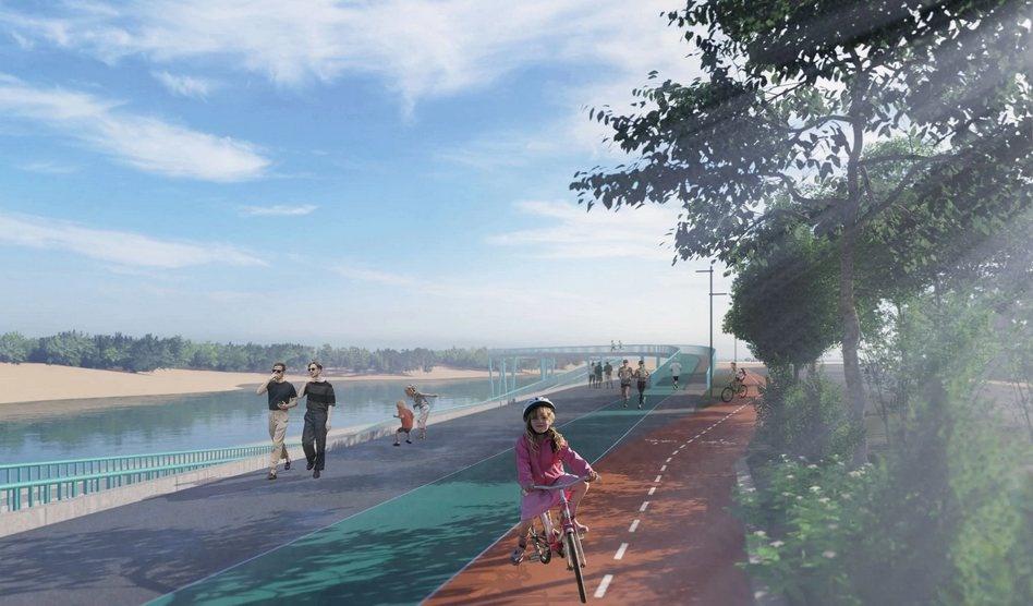 Памп-трек и мост «Петля» появятся на набережной Гребного канала - фото 1