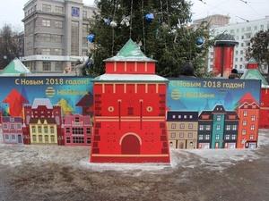 Елку на площади Горького обнесли кремлевской стеной (ФОТО)