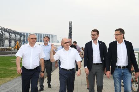 Евгений Люлин и Сергей Кириенко осмотрели благоустроенный Нижний Новгород