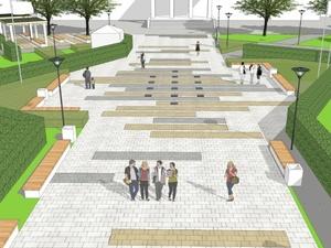 Пешеходный светящийся фонтан построят в Арзамасе