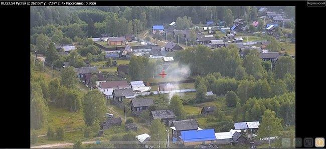 Камера в Керженском заповеднике засекла пожар в 70 км от поселка Рустай - фото 1