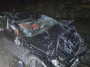Иномарка упала на поезд в Навашине
