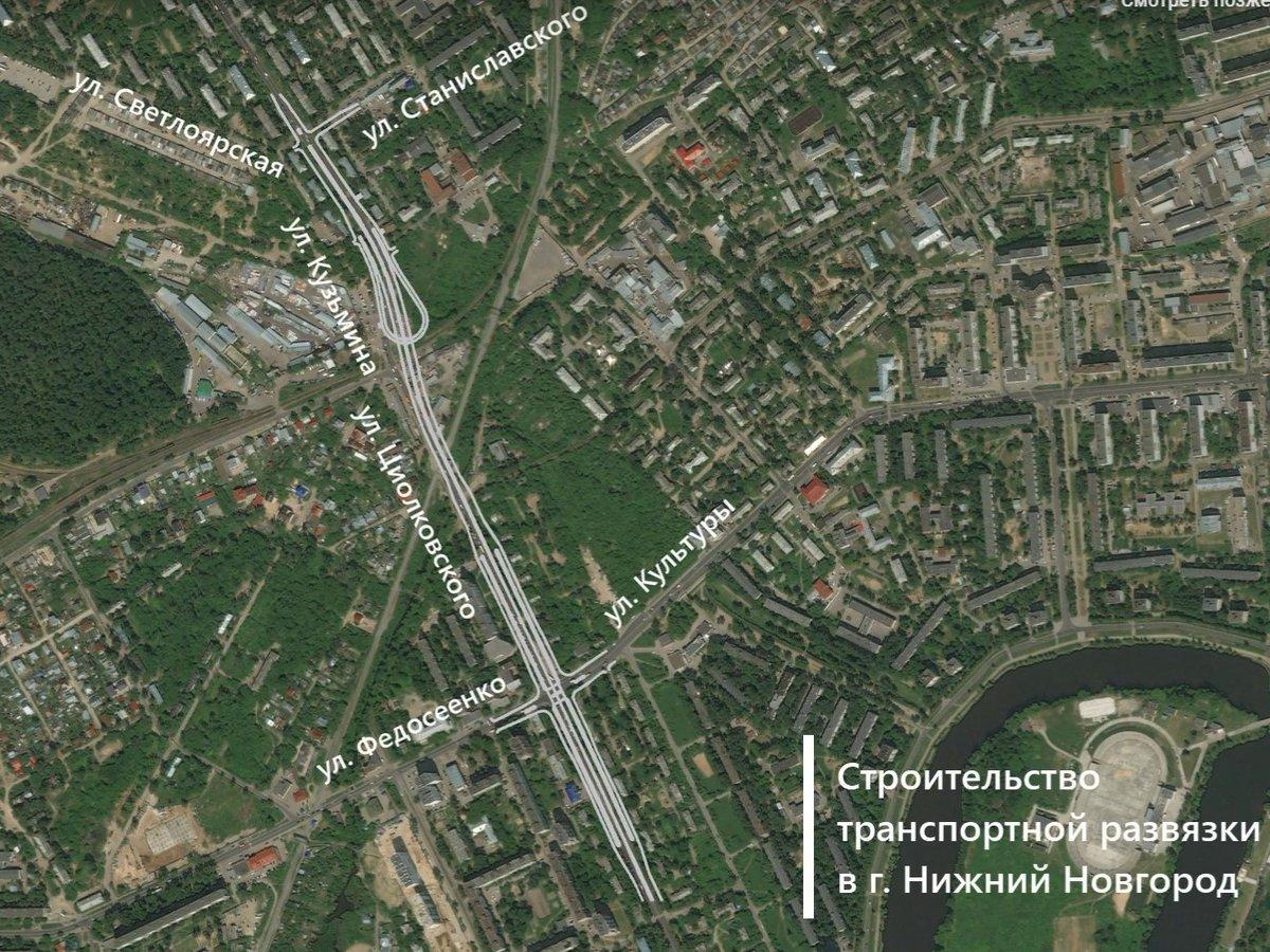 Власти показали, как будет выглядеть развязка на Циолковского в Сормовском районе