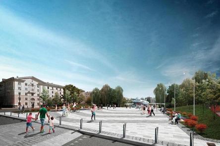Амфитеатр и навес с качелями предложено использовать для благоустройства площади Буревестника